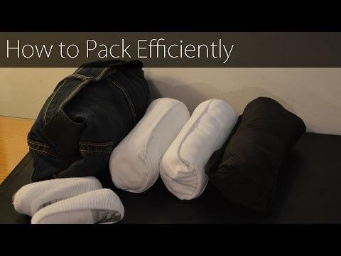 Platzsparend — So packen Sie Ihren Reisekoffer