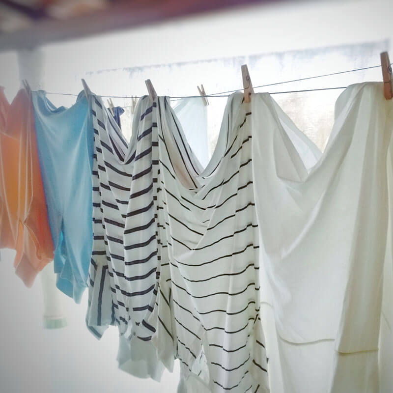 Wie wird die Wäsche richtig getrocknet und gebügelt?